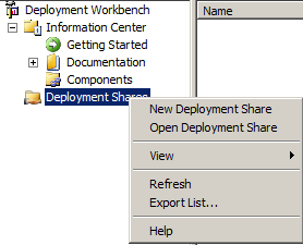 Create Deployment Share